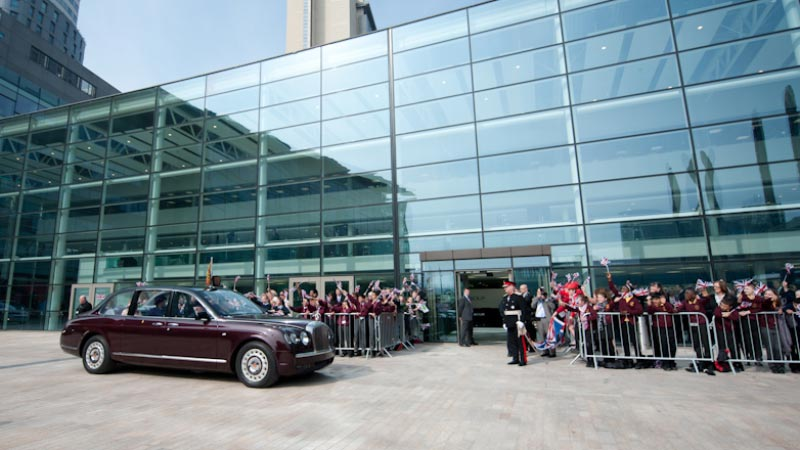 Her Majesty the Queen Officially Opens The Studios at MediaCityUK